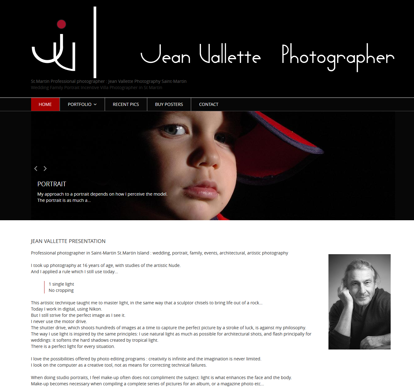 Jean Vallette, professional photographer in St.Martin