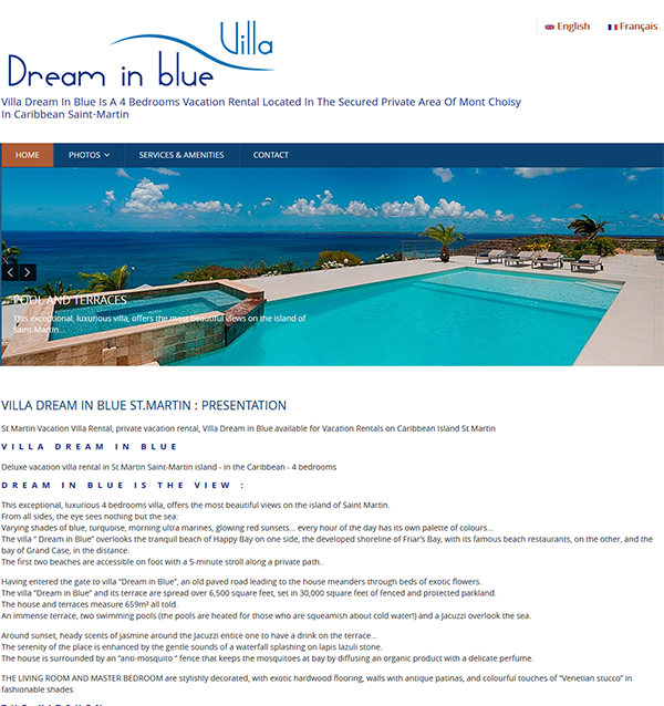 Villa Villa Dream in Blue St.Martin - Location de villa à Saint-Martin - St.Martin Vacation Rental