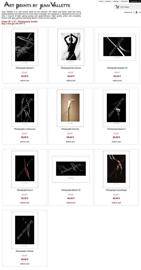 Site Marchand d'artiste, vente de posters